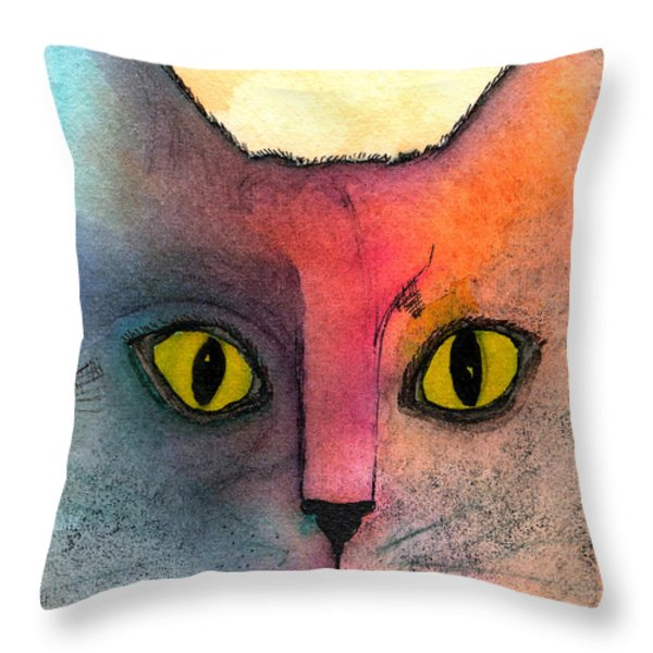 Fur Friends Series - Abby Throw Pillow by Moon Stumpp