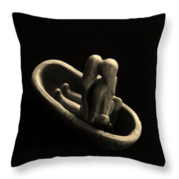 Fur Traders Throw Pillow by Barbara St Jean
