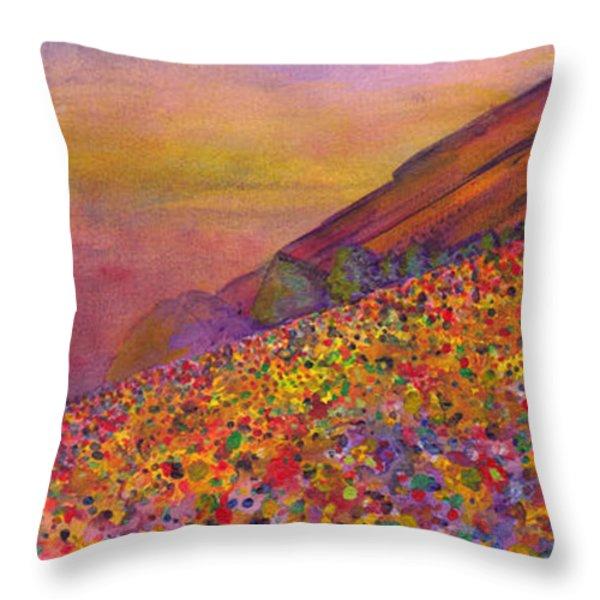 Furthur At Redrocks 2011 Throw Pillow by David Sockrider