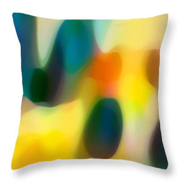 Fury Rain 2 Throw Pillow by Amy Vangsgard