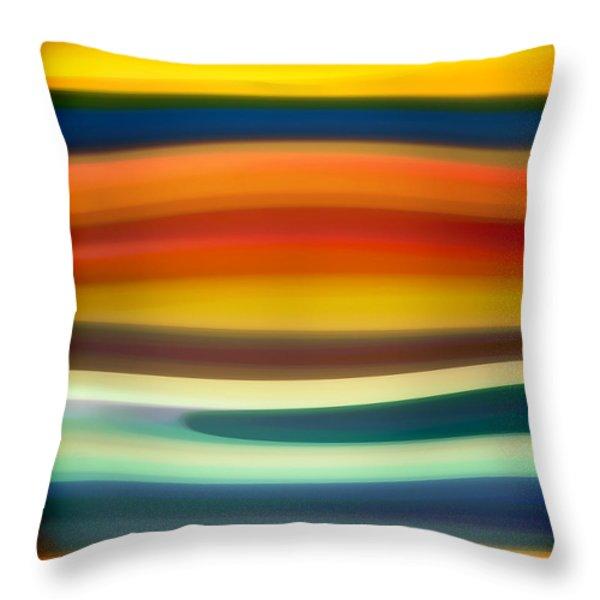 Fury Sea 1 Throw Pillow by Amy Vangsgard