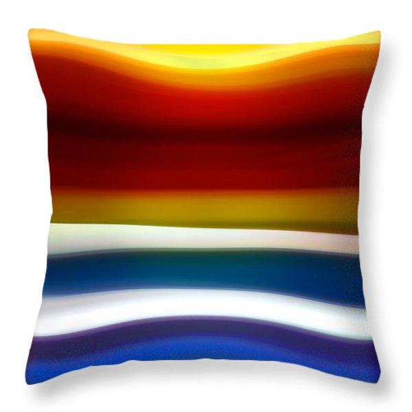 Fury Sea 5 Throw Pillow by Amy Vangsgard