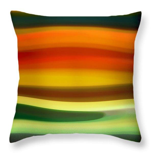 Fury Sea 6 Throw Pillow by Amy Vangsgard