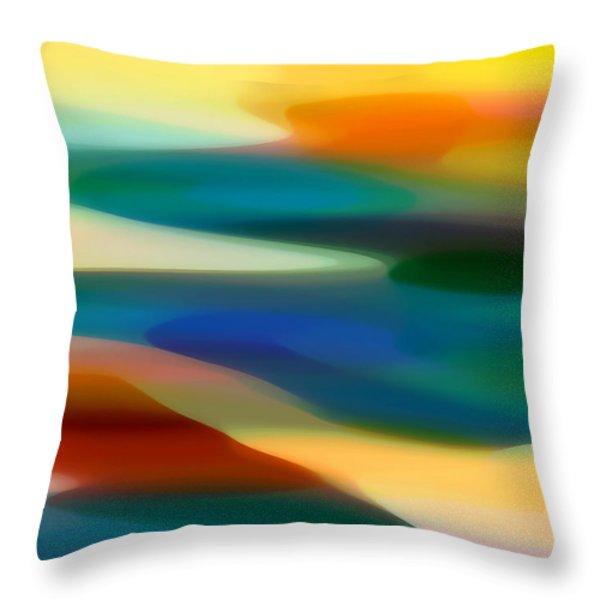 Fury Seascape 1 Throw Pillow by Amy Vangsgard