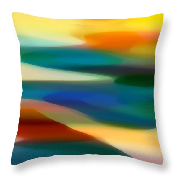 Fury Seascape 3 Throw Pillow by Amy Vangsgard