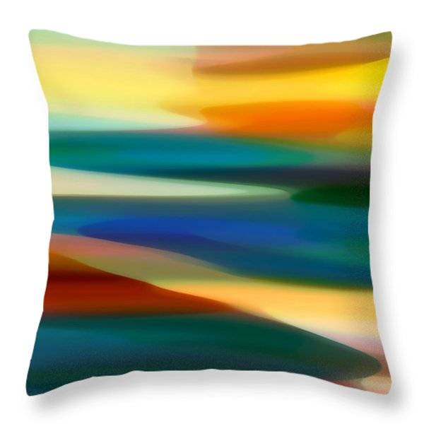 Fury Seascape 4 Throw Pillow by Amy Vangsgard