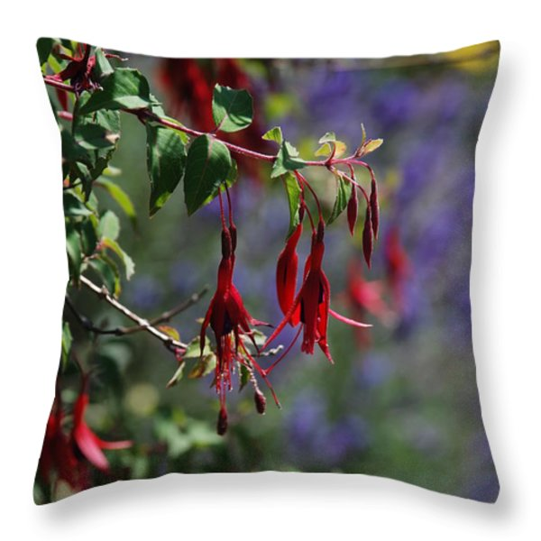 Fuschia Throw Pillow by Carol  Eliassen
