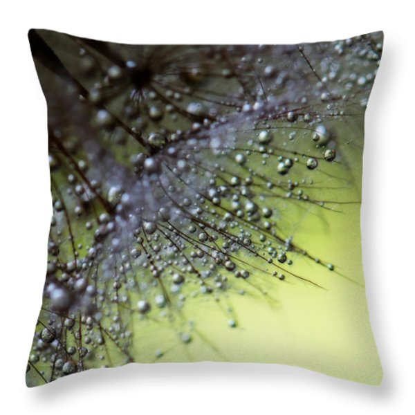 Fuzzy Drops Of Awesomeness Throw Pillow by Lisa Knechtel
