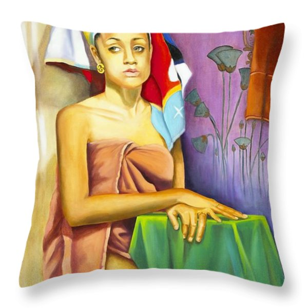 Gaby Throw Pillow by Marlene Book
