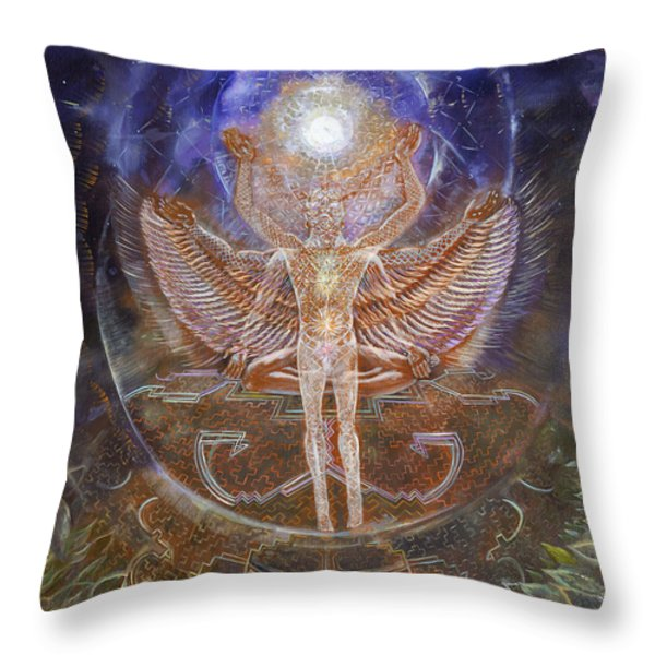 Gaiascension Throw Pillow by Jerod  Kytah