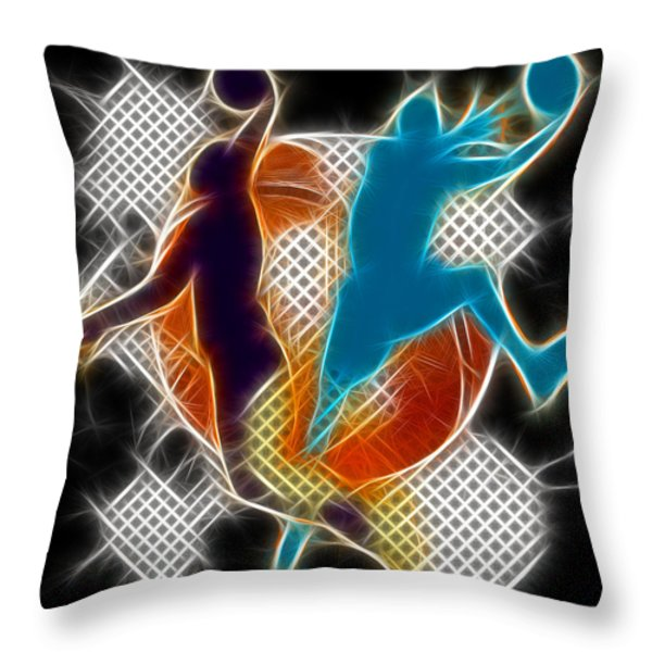 Galactic Dunk 3 Throw Pillow by David G Paul