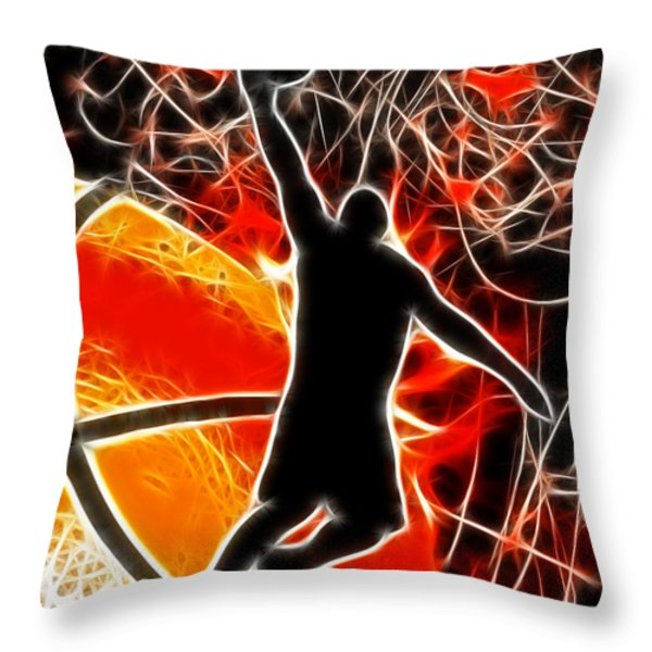 Galactic Dunk Throw Pillow by David G Paul