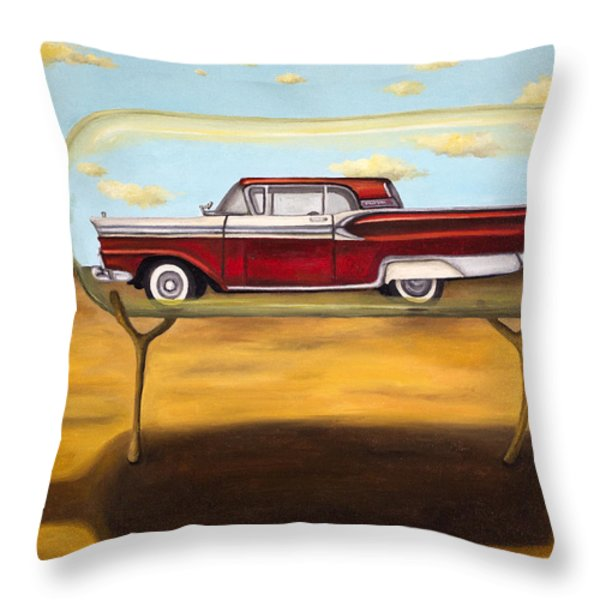 Galaxie In A Bottle Throw Pillow by Leah Saulnier The Painting Maniac
