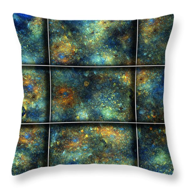 Galaxies II Throw Pillow by Betsy A  Cutler