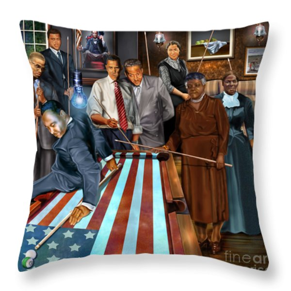 Game Changers and Table Runners P2 Throw Pillow by Reggie Duffie