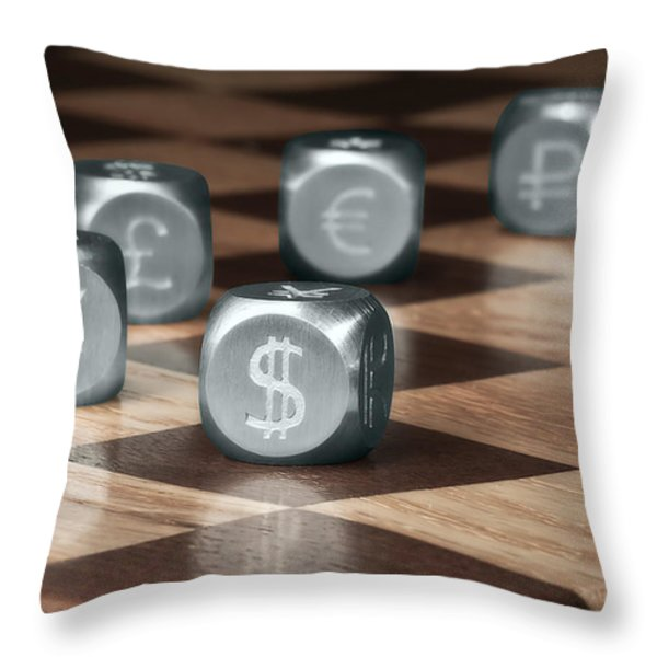 Game of Chance Throw Pillow by Tom Mc Nemar