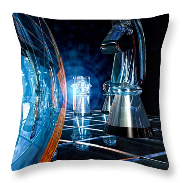 Game Transparent  Throw Pillow by Bob Orsillo