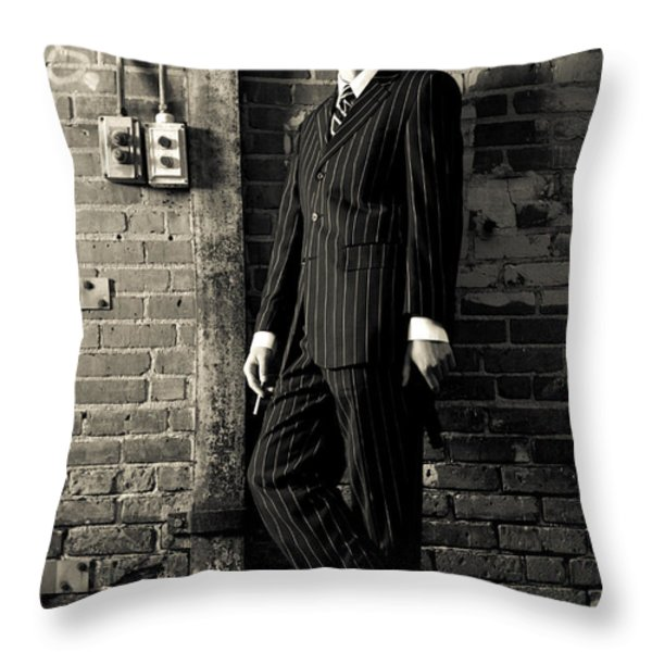 Gangster Throw Pillow by Diane Diederich