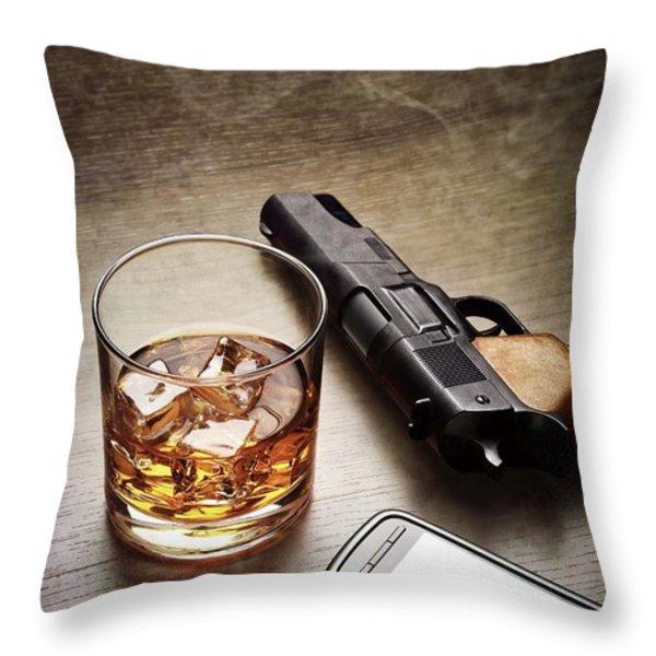 Gangster Gear Throw Pillow by Carlos Caetano