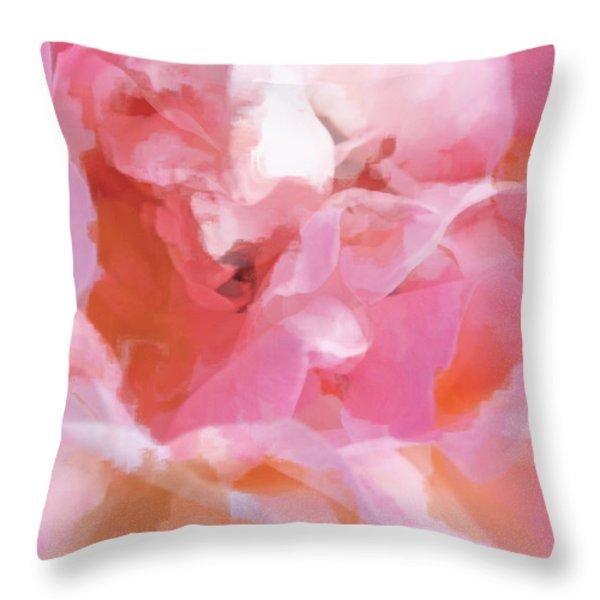 Garden Ballet Throw Pillow by Gwyn Newcombe