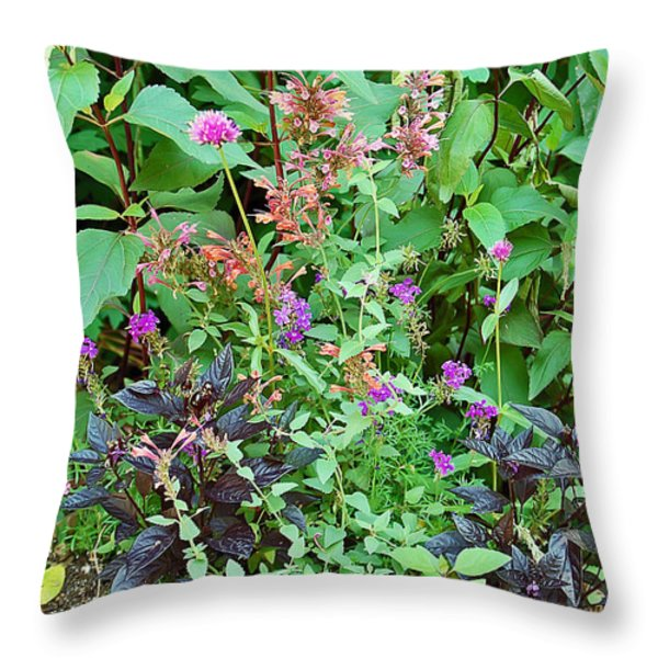 Garden Bouquet Throw Pillow by Aimee L Maher Photography and Art