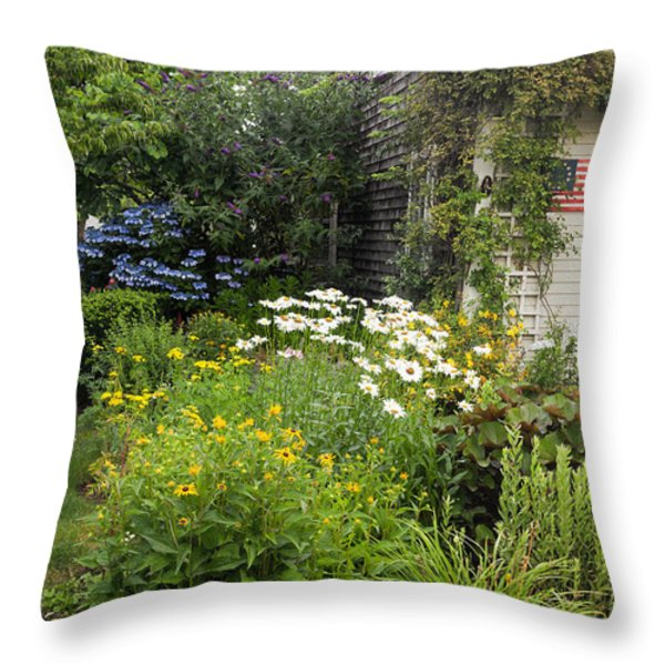 Garden Cottage Throw Pillow by Bill  Wakeley
