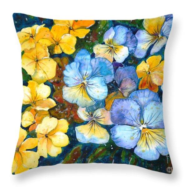 Garden Harmony Throw Pillow by Zaira Dzhaubaeva