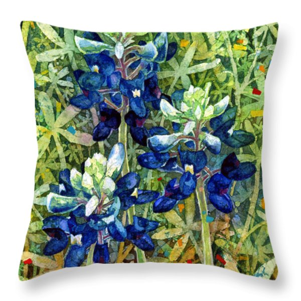 Garden Jewels I Throw Pillow by Hailey E Herrera