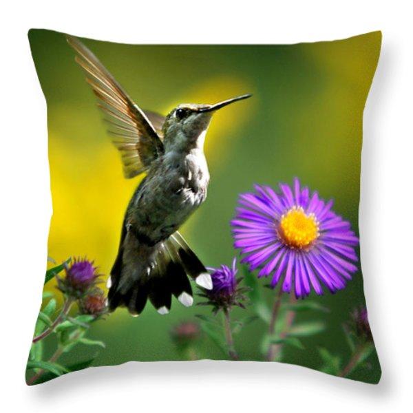 Garden Lights Throw Pillow by Christina Rollo
