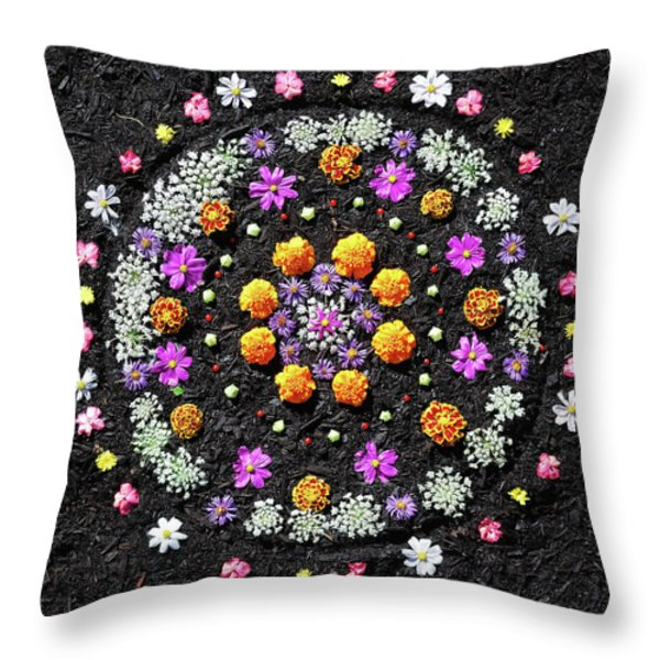 Garden  Mandala 2009  Throw Pillow by Joseph Duba
