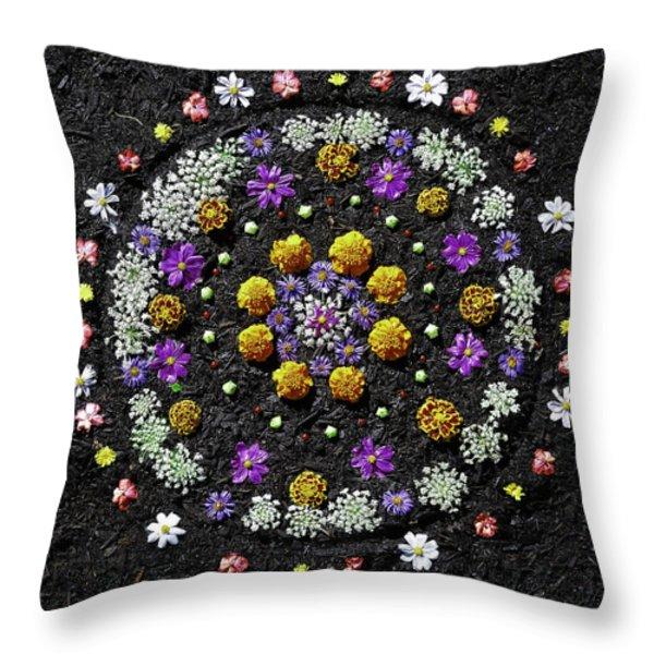 Garden Mandala 2009 V.2 Throw Pillow by Joseph Duba