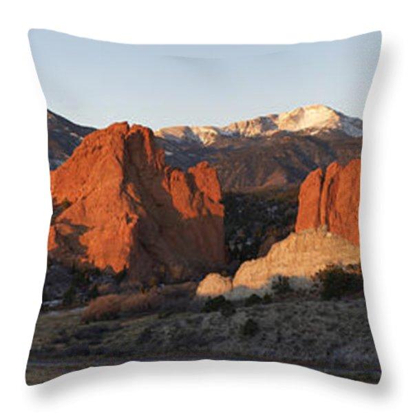 Garden of the Gods Throw Pillow by Aaron Spong