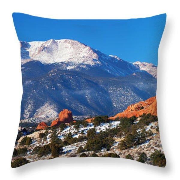 Garden Pano Throw Pillow by Darren  White