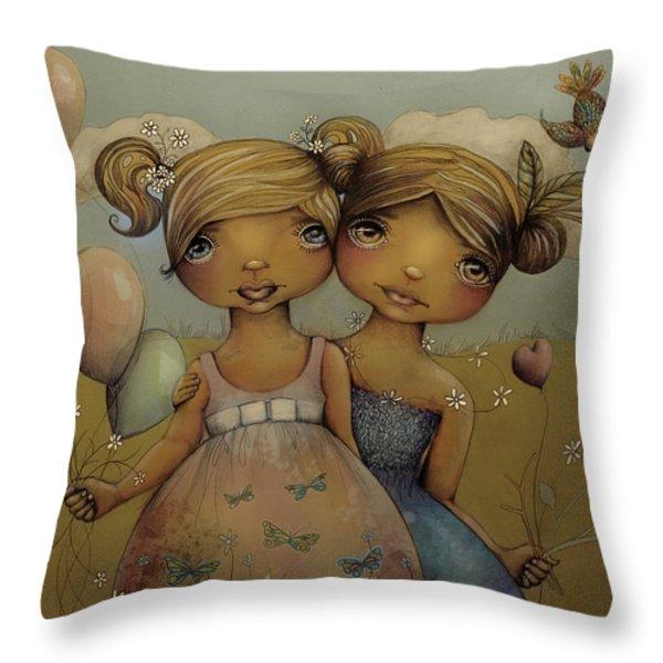 Garden Party Throw Pillow by Karin Taylor