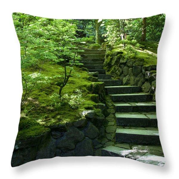 Garden Path Throw Pillow by Brian Jannsen