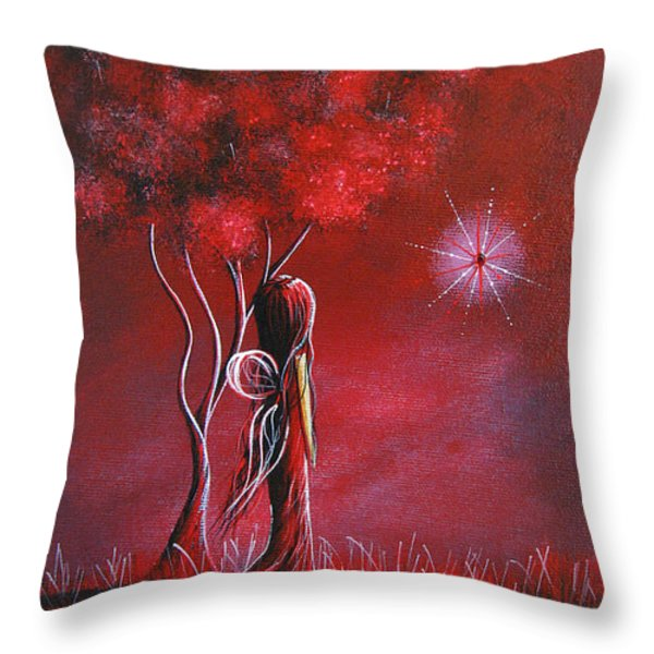 Garnet Fairy by Shawna Erback Throw Pillow by Shawna Erback