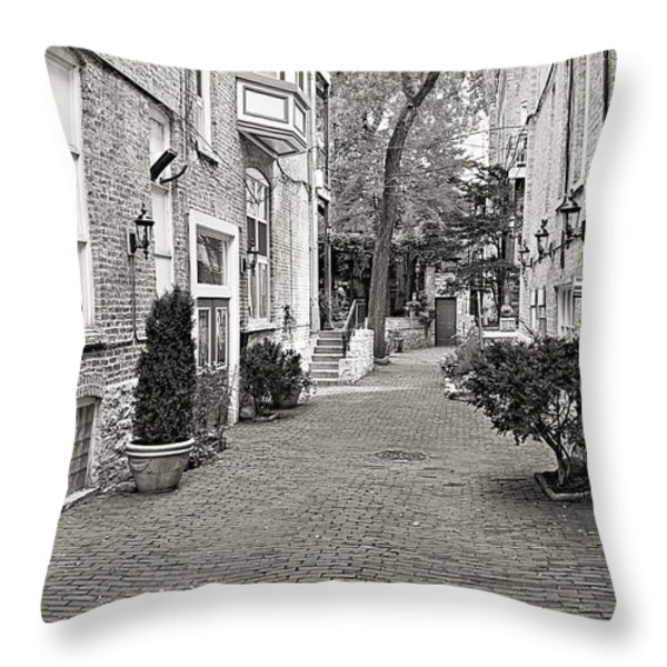 Gaslight Court Chicago Old Town Throw Pillow by Christine Till
