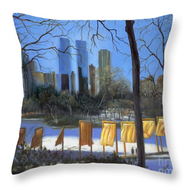 Gates Of New York Throw Pillow by Marlene Book