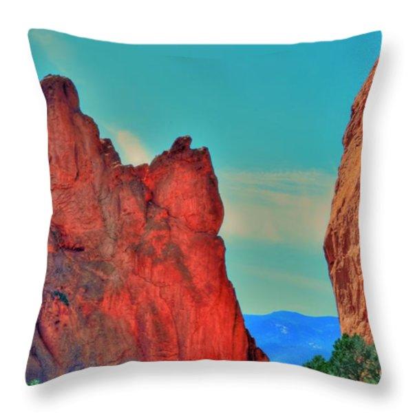 Gateway Rock Throw Pillow by Kathleen Struckle