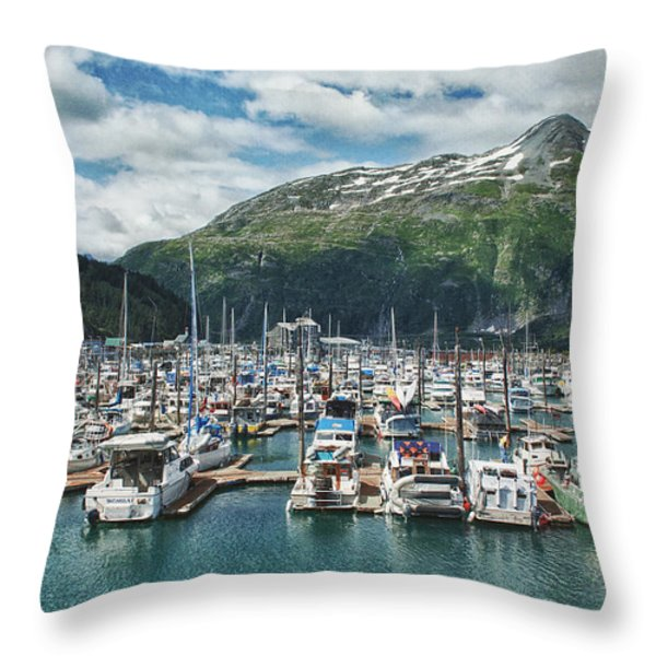 Gateway To Prince William Sound Alaska Throw Pillow by Kim Hojnacki