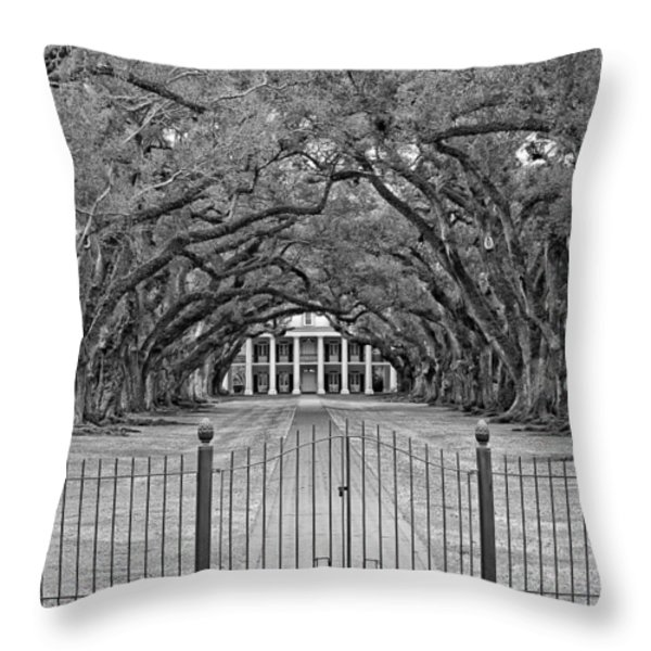 Gateway To The Old South Monochrome Throw Pillow by Steve Harrington