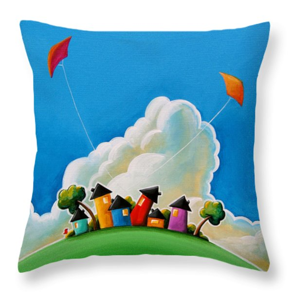 Gather Round Throw Pillow by Cindy Thornton