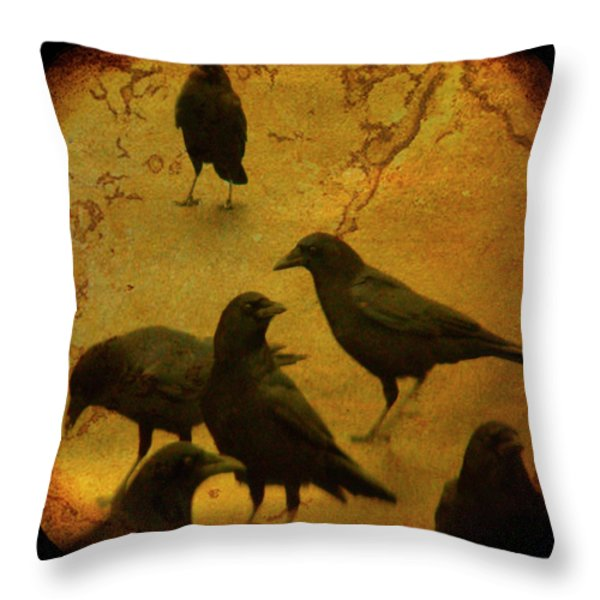 Gathering Throw Pillow by Gothicolors Donna Snyder