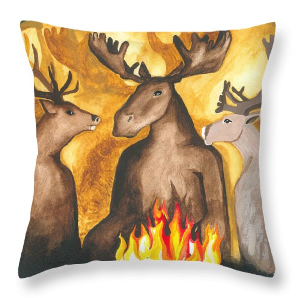 Gathering Of Ancestors Throw Pillow by Cat Athena Louise