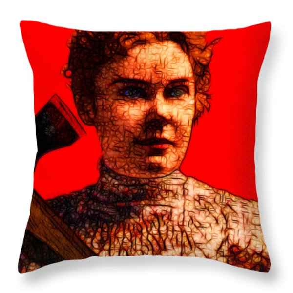 Gave Her Father Forty Whacks - Red Throw Pillow by Wingsdomain Art and Photography