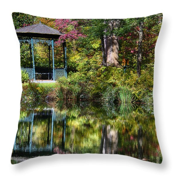 Gazebo Retreat Throw Pillow by John Greim