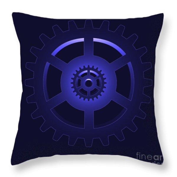 Gear - Cog Wheel Throw Pillow by Michal Boubin