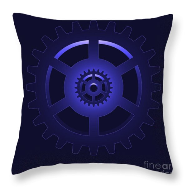gear - cog wheel Throw Pillow by Michal Boubin