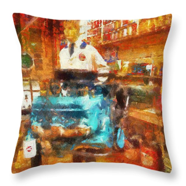 Gearhead Workshop Photo Art Throw Pillow by Thomas Woolworth