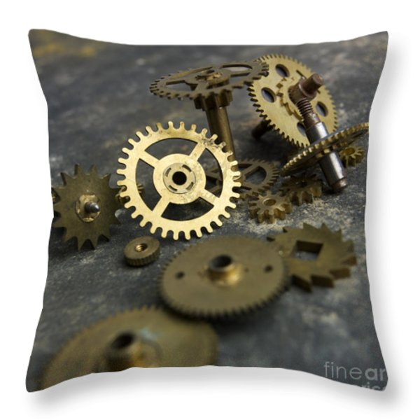 Gears Throw Pillow by BERNARD JAUBERT